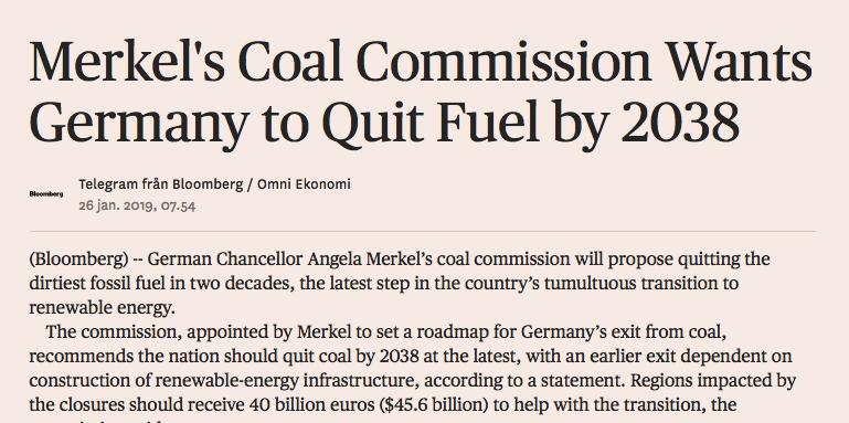 Klimatpositivt: Kommission: Gör Tyskland kolfritt senast 2038
