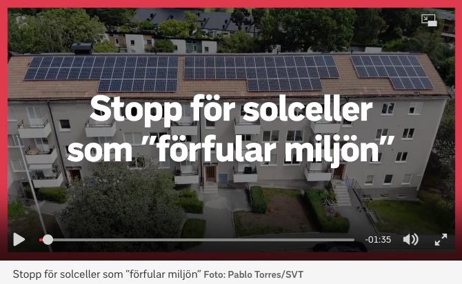 """Solceller motarbetas!? Inget bygglov för solcellssatsning: """"Förfular stadsbilden"""""""