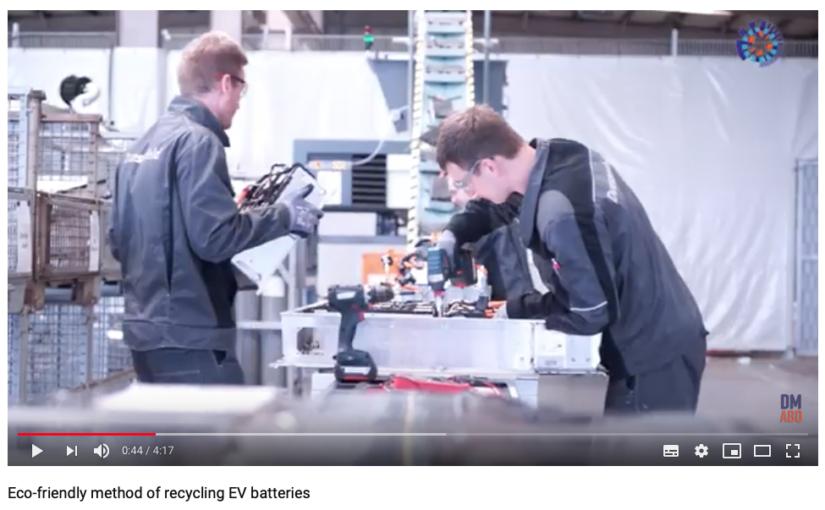 Återvinning elbilsbatterier: Europa tar upp kampen om batteriåtervinning